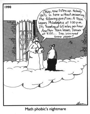 Math Phobic's Nightmare - Far Side